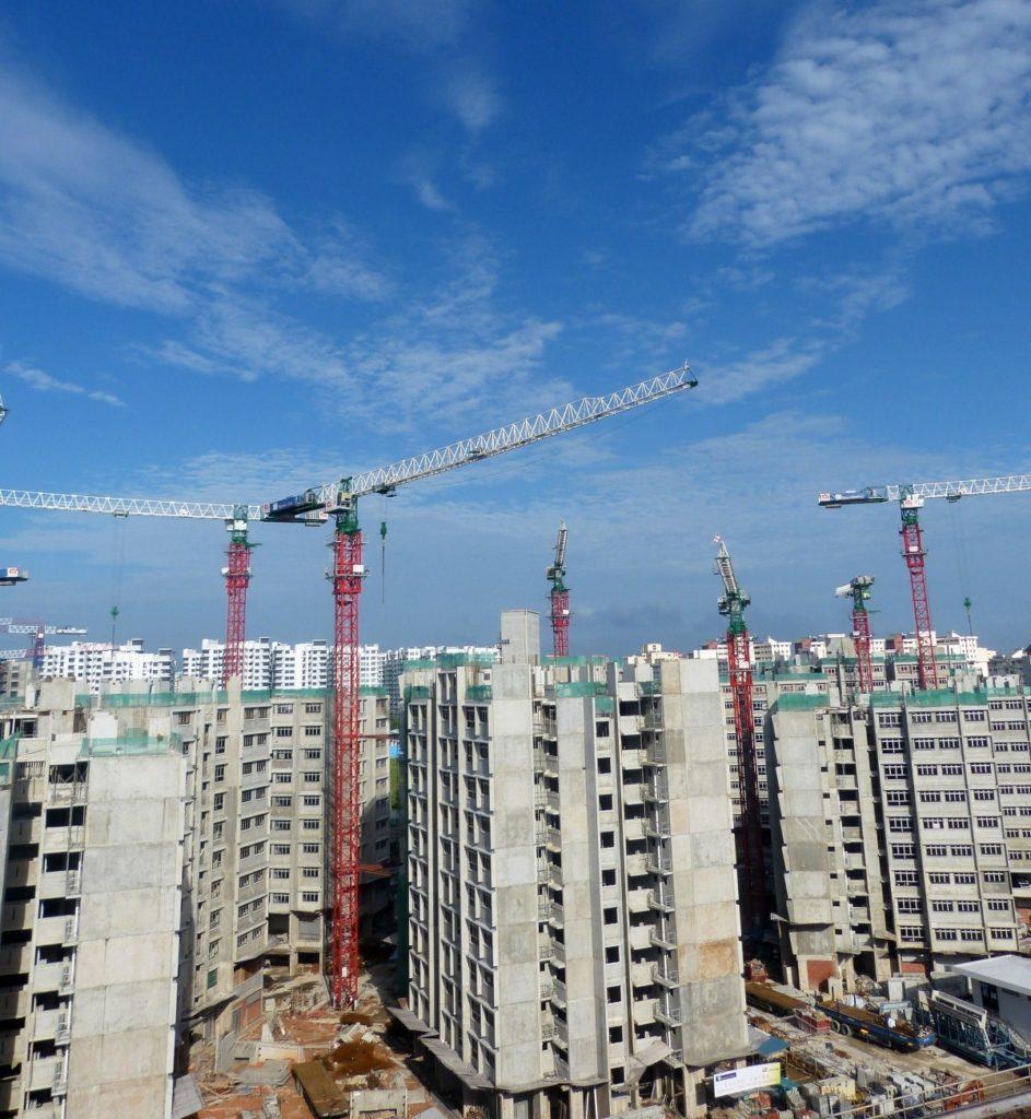 grua construccion edificio
