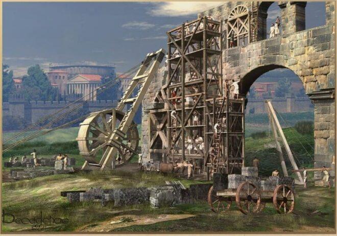 grua historia acueductos roma