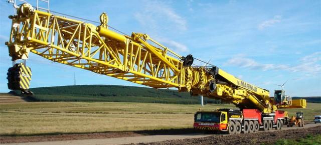 Telescopic crane parts