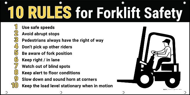 FORKLIFT OPERATION SAFETY ▷ forklift loader rules and