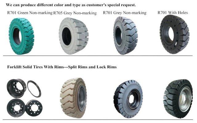 Types of forklift tires