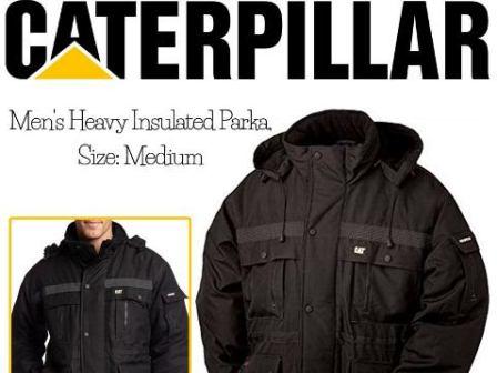 Caterpillar men's heavy insulated parka