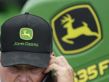 Black John Deere Hat