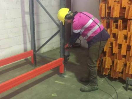 How to secure pallet racking to the floor?