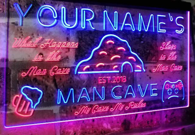 Neon signs for Man Cave Personalized neon signs for guys room