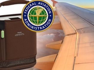 What portable oxygen concentrators are approved by the FAA