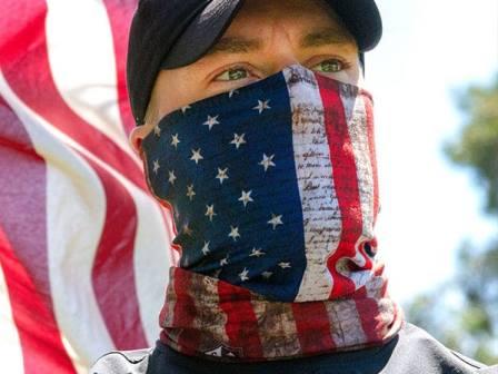 Face shield bandana made in USA