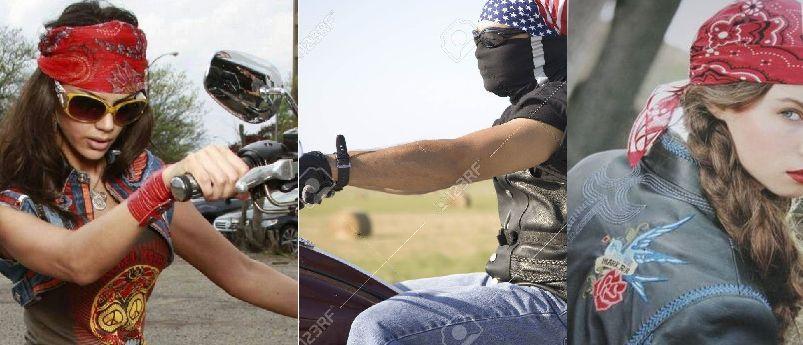 Cute head bandana for bikers