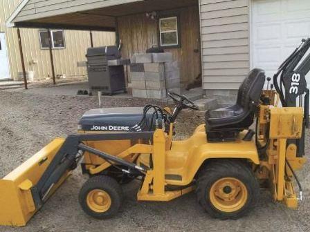 Garden Tractor Backhoe