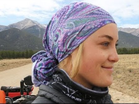 how to wear a bandana for motorcycle riding?